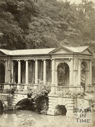 The Palladian Bridge at Prior Park, Bath, c.1880s