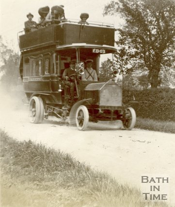 A Bath Tramways Bus c.1905