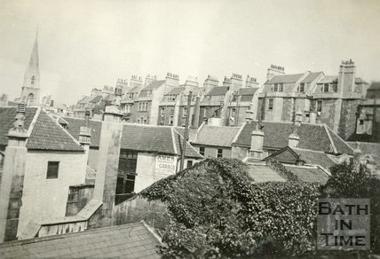 View of the rear of Rivers Street from the window of the Regina Hotel, Bath c.1930