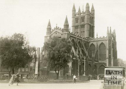 Bath Abbey from Orange Grove, Bath 1932