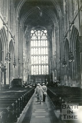 The nave, Bath Abbey, Bath c.1960