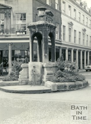 The Mineral Water Fountain, Bath Street, Bath c.1960