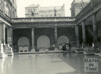 The Roman Great Bath, Bath c.1960