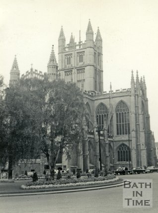 Bath Abbey from Orange Grove, Bath c.1960