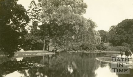The Lake, Royal Victoria Park, Bath 1935