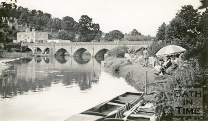 The Bathampton Mill tea gardens and Batheaston toll bridge 1939