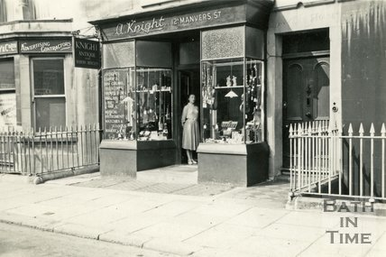 A. Knight, Antiques and Modern Articles shop, 12a Manvers Street, Bath, c.1950s