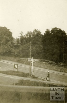 The junction between the A4 Box Road and A363 Bradford Road, Bathford 1927