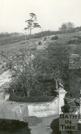 The entrance to Rainbow Wood House, Widcombe Hill, Bath c.1930