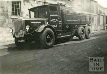 Wootton Brothers Mercedes Benz truck, Milk Street, Bath c.1930