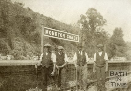 Railway workers at Monkton Combe Station c.1910?