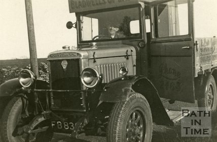 A Morris Commercial lorry of Bladwell's Builders Merchants, Bath c.1930