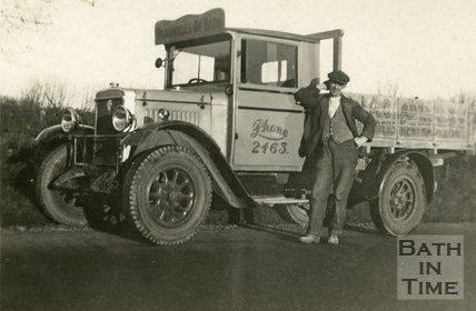 A Morris Commercial lorry of Bladwell's Builders Merchants, Bath c.1930