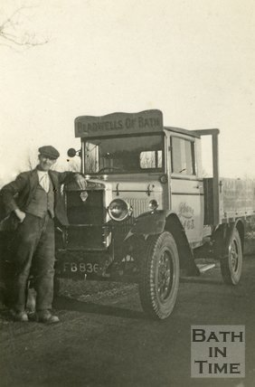 A Morris Commercial lorry of Bladwells Builders Merchants, Bath, c.1930s?