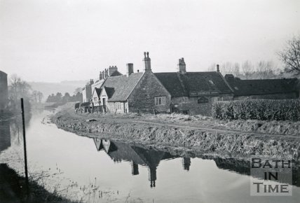 The George Inn and the Kennet and Avon Canal, Bathampton 1948