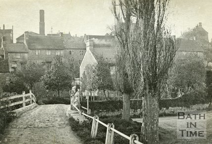 The bridge beside the ford, Wellow c.1930