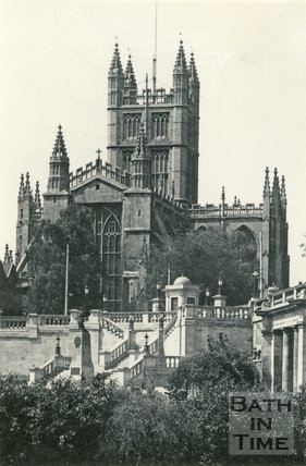 Bath Abbey and Parade Gardens, Bath c.1935