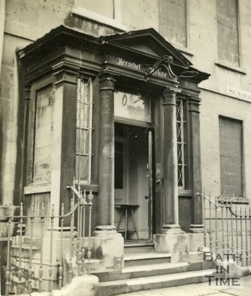 The doorway to Herschel House, Sunderland Street, Bath c.1945