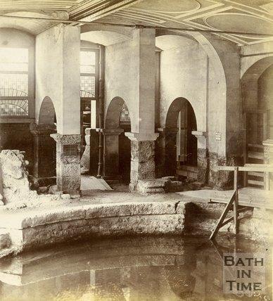 The Circular Roman Bath, Bath c.1890