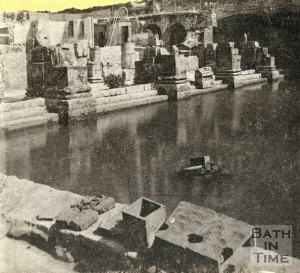 The Roman Great Bath, Bath c.1890