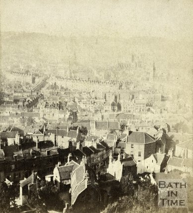 View from Beechen Cliff, Bath c.1860