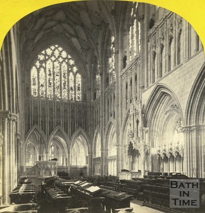 Interior of Wells Cathedral 1873
