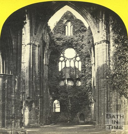 Interion of the ruined Tintern Abbey c.1873