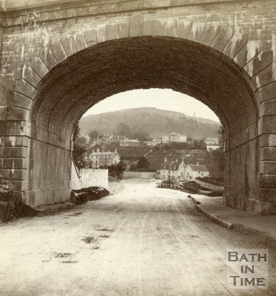 View through Brunel's railway bridge, Bathford 1874