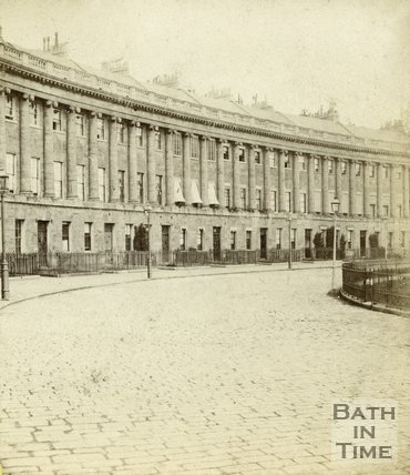 The Royal Crescent, Bath c.1863
