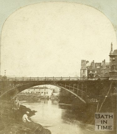 North Parade Bridge, Bath c.1870