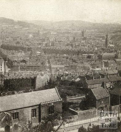 Bath from Beechen Cliff c.1880