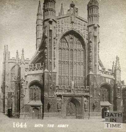 The west front of Bath Abbey from Abbey Church Yard, Bath c.1890