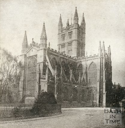 Bath Abbey from Orange Grove, Bath c.1890