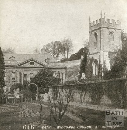Widcombe Manor and church, Widcombe, Bath c.1880