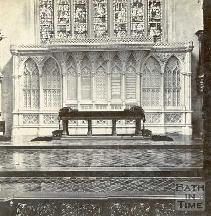 Interior of Bath Abbey, Bath c.1880
