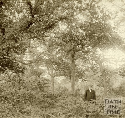 Man in a wood near Conkwell c.1880
