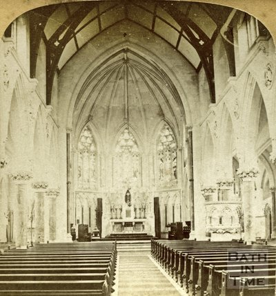 Interior of St. John the Evangelist Roman Catholic Church, Bath c.1890