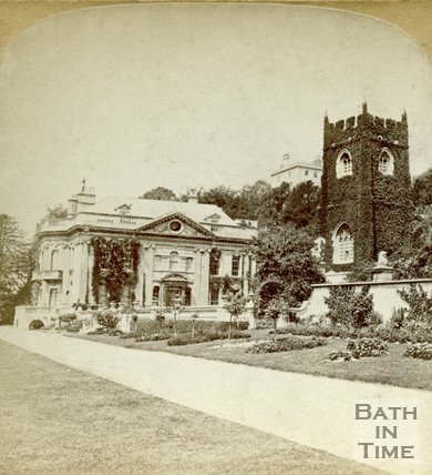 Widcombe Manor and church, Bath, c.1880s