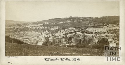 Widcombe from Alexandra Park, Bath c.1865