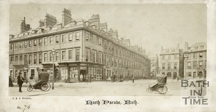 Pierrepont Street and North Parade, Bath c.1865