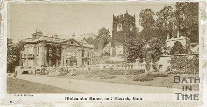 Widcombe Manor and church, Bath c.1865