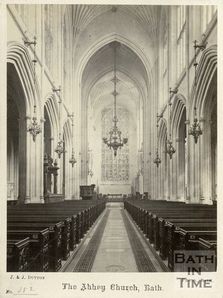 Interior of Bath Abbey, Bath c.1870
