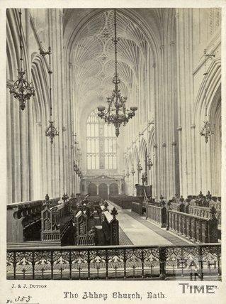 Interior of Bath Abbey, Bath c.1870