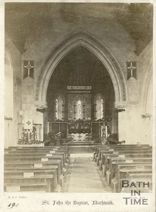 Interior, St. John the Baptist Church, Bathwick, Bath c.1875