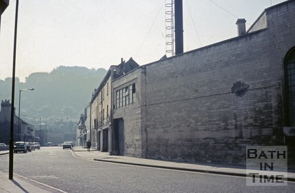 Looking down Newark Street from Old Orchard Street, Bath, c.1968