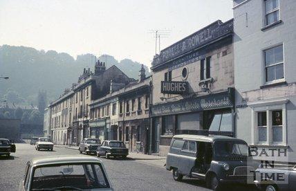 Hughes Brothers, fruit and potato merchants, Newark Street, Bath, c.1968