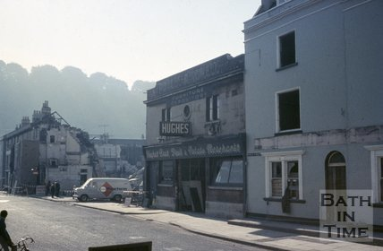 Hughes Brothers, fruit and potato merchants, Newark Street, Bath, c.1970
