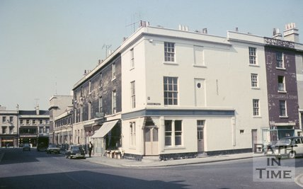The corner of Newark Street and Dorchester Street, Bath, c.1968