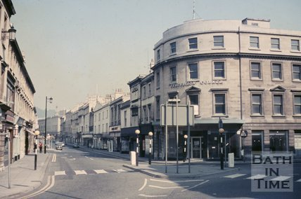Television Corner, Dorchester and Southgate Street, Bath, c.1968