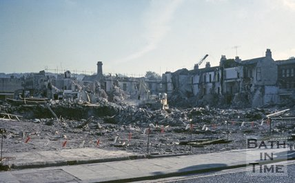 Demolition of Southgate Street, Bath, c.1970